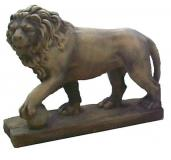 ANM-011 Lion Walking with ball, small, left
