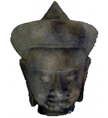 ORL-010 Khmer head, pointed cap